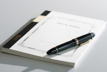 ノートと万年筆